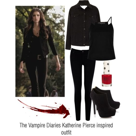 """""""The Vampire Diaries Katherine Pierce inspired outfit"""" by ..."""