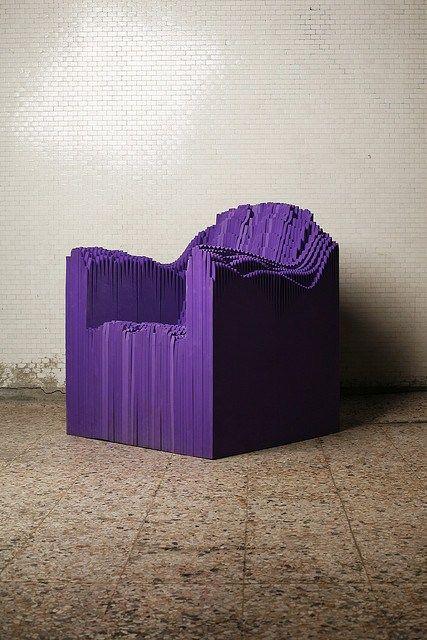Sound Chair - 3D Printed Objects by Matthew Plummer Fernandez #3dPrintedFurniture