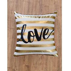 Love Stripes Throw Pillow