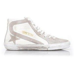 GOLDEN GOOSE DELUXE BRAND White 'Slide' Hi-Top Sneakers