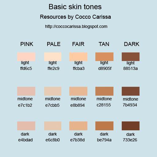 Paint Program Flesh Colors