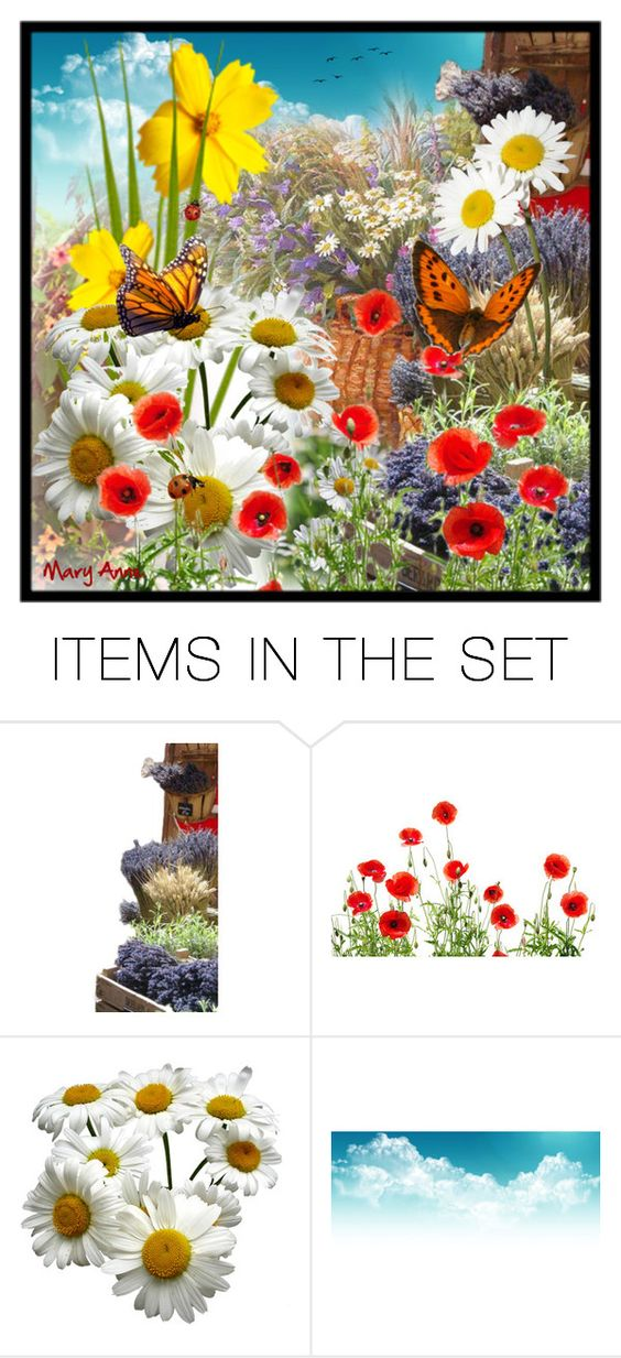 """Flowers"" by maryanne-busuttil ❤ liked on Polyvore featuring art"