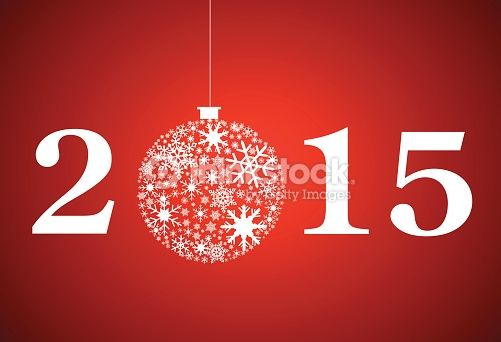 Clipart vectoriel : Simple 2015 new year. Happy holidays background with snowflakes