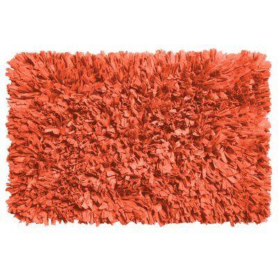 Wrought Studio Rossetti Bath Rug Color Burnt Coral Bath Rugs