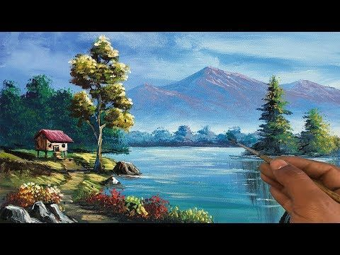Easy Landscape Painting Step By Step Painting Tutorial How To Paint Landscape Scenery Landscape Yo Scenery Paintings Landscape Paintings Landscape Scenery