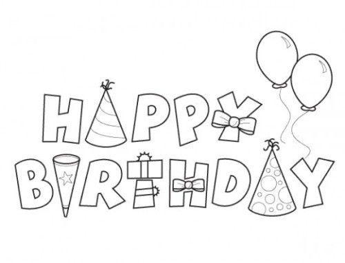 Letras Dibujos Para Colorear Feliz Cumpleaños