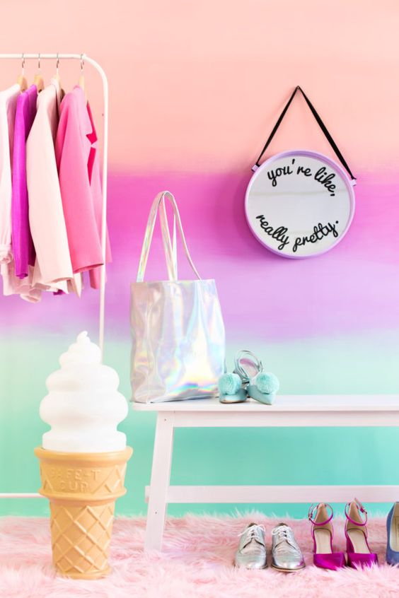 DIY Colorful Ombre Wall | studiodiy.com