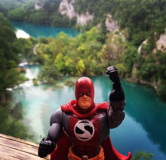 StorMan taking in the view from the top of Plitvice Lakes. Everything seems to be clear and calm from up here, not to mention the view is incredible.