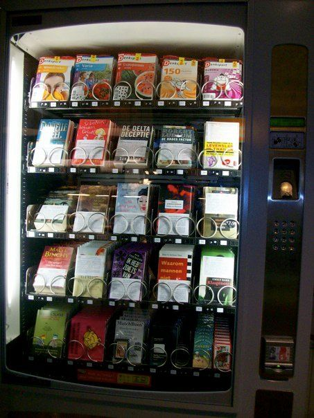 A book vending machine? Better for you than Pepsi vending machines.