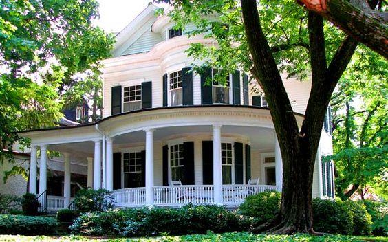 White house wrap around porch dream home pinterest for House with wrap around porch for sale