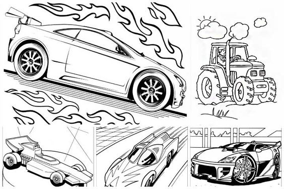 hot wheels coloring pages kindergarten - photo#19