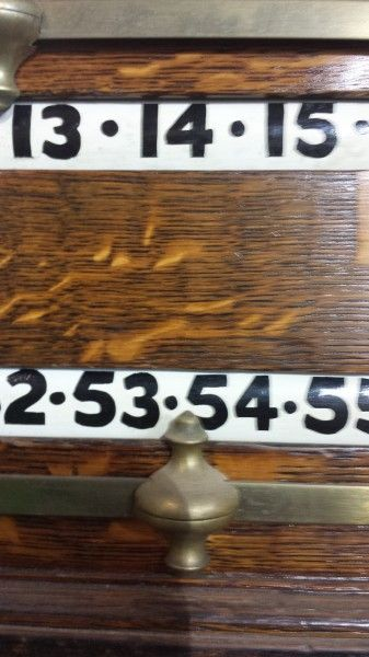 Antique Oak Life Pool Scoreboard Circa 1910 (Stock no B029) | Browns Antiques Billiards and Interiors.