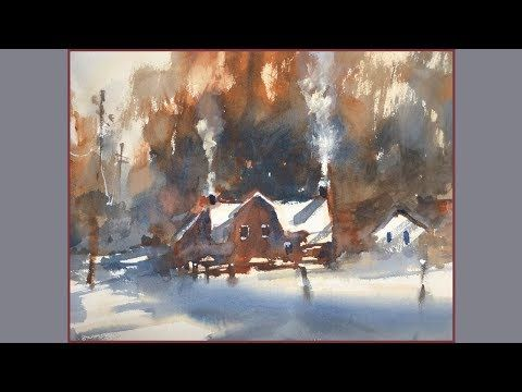 Advancing With Watercolor Edge Control Part 1 New Snow