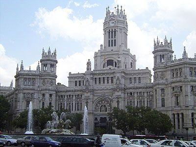 La Cibeles y el Palacio de Comunicaciones