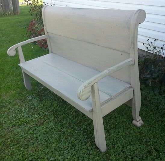 Sleigh Bed Headboard Up Cycled Into A Very Awesome Bench Kathi Kountry Krafts Pinterest