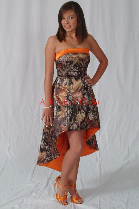 images of camoflage dresses | orange camo wedding dresses orange camo orange camo: Camo Wedding Dress, Camo Dresses, Camo Bridesmaid Dresses, Country Wedding, Bridesmaids Dresses, Prom Dresses, Camo Prom Dress, Wedding Presents, Brides Maid