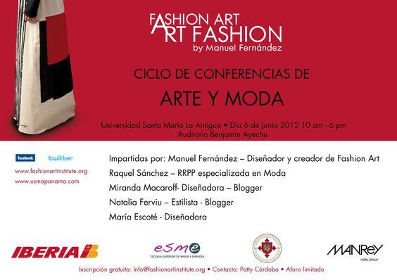 Ciclo de conferencias Arte y Moda en Panamá #moda #socialmedia #coolhunting