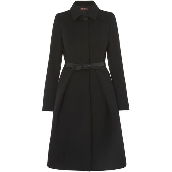 MaxMara Valdez dress coat with belt (8 285 UAH) ❤ liked on