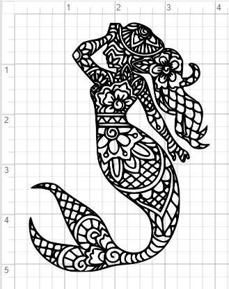 Mandala Mermaid Svg : mandala, mermaid, Mermaid, Lover