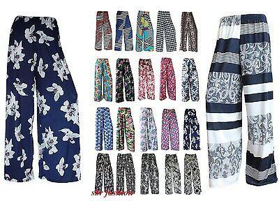 Mujer Flores Palazzo Estampados Pantalones Verano Pernera Ancha Talla Grande Pants For Women Dress Shirts For Women Trousers Women