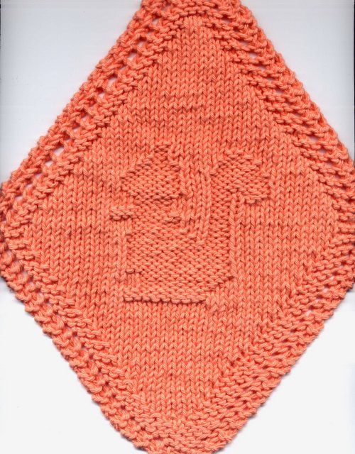 Free Diagonal Knit Dishcloth Pattern : Dishcloth Pattern Corner and Some Scrubbies Too: Diagonal Squirrel Dishcloth ...
