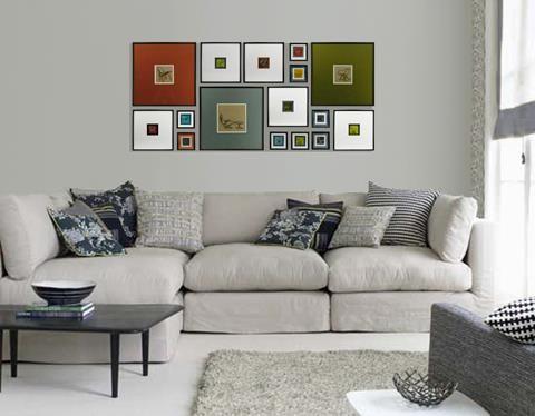 Composici n de cuadros para encima del sof www for Decoracion encima sofa