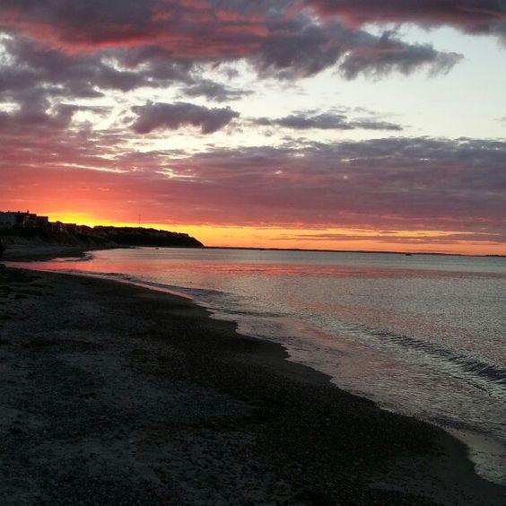 White Horse beach sunset