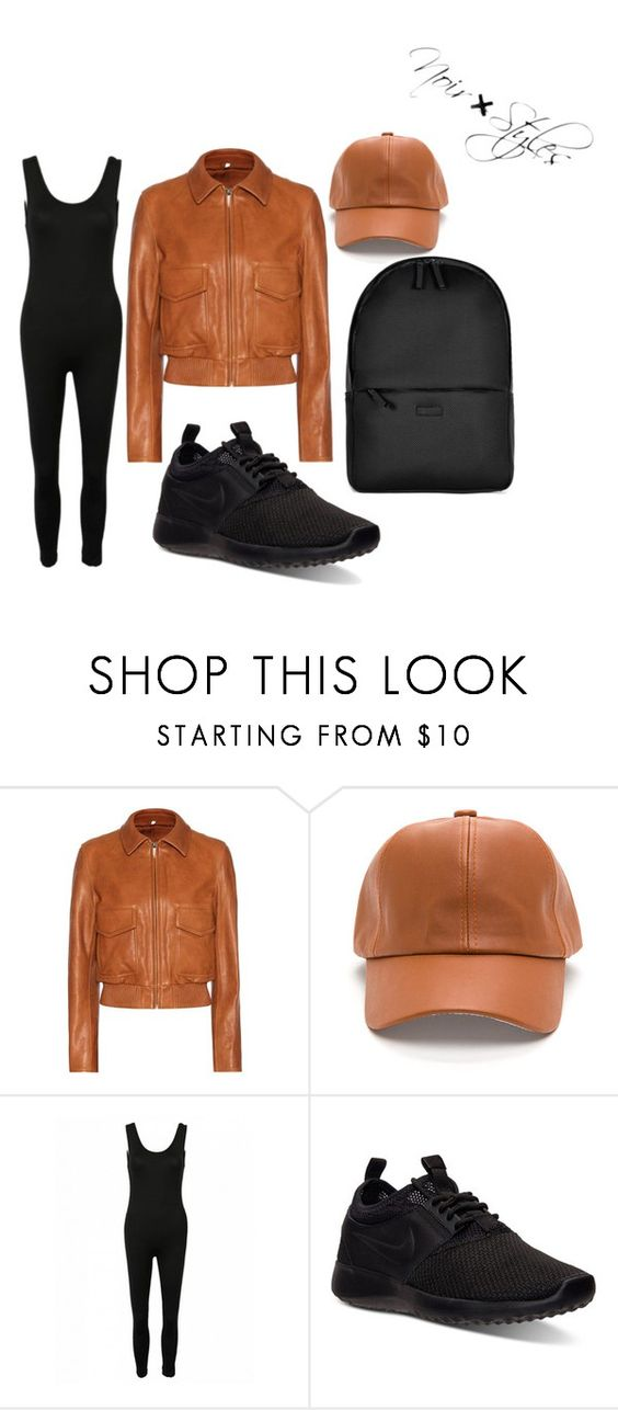 """Just chill out"" by stylesbynoir ❤ liked on Polyvore featuring Helmut Lang, NIKE and Rains"
