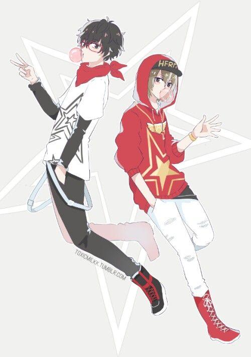 Persona 5 Goro Akechi X Akira Kurusu Persona Persona 5 Akira Kurusu