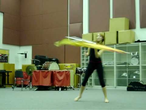 Kirstia Lynn's Colorguard Solo! Amazing talent and awsome tricks!!