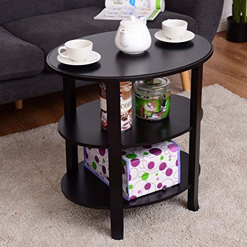 3 Tier Oval End Table Sofa Side Table Wood Accent Coffee Table Coffee Table Wood Display Coffee Table Coffee Table