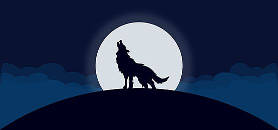 Wolf Silhouette On Full Moon Wolf Silhouette Shadow Silhouette Pop Art Background