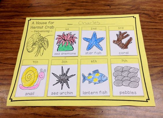 a house for hermit crab writing activity for first grade