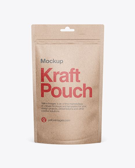 Download Kraft Stand Up Pouch Mockup Front View In Pouch Mockups On Yellow Images Object Mockups Mockup Free Psd Free Psd Mockups Templates Free Mockup