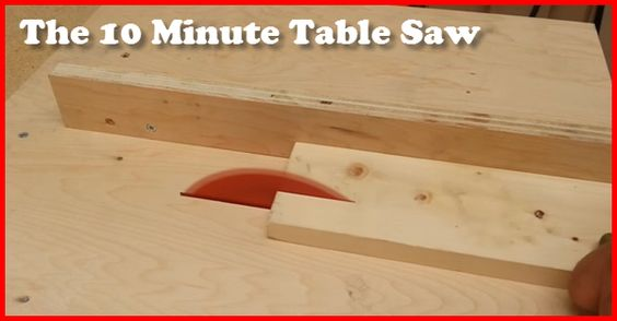 You Might Call This The Poor Mans Table Saw...