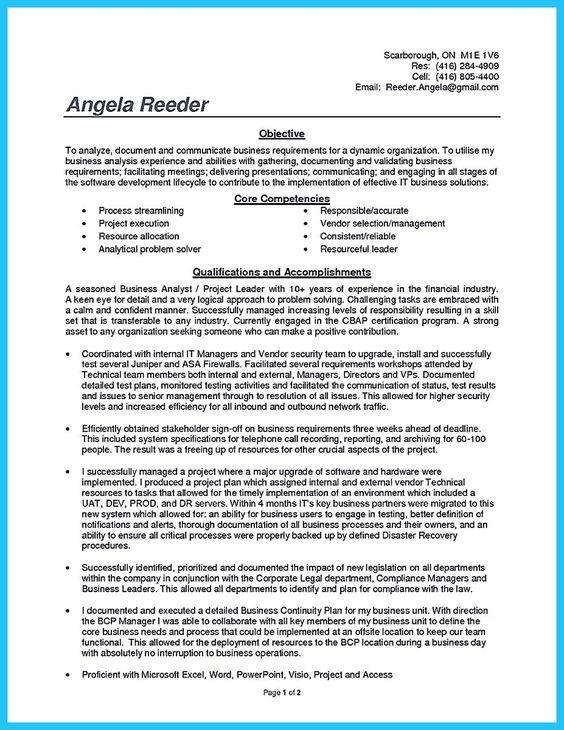 cool Create Your Astonishing Business Analyst Resume and Gain the - operations analyst resume
