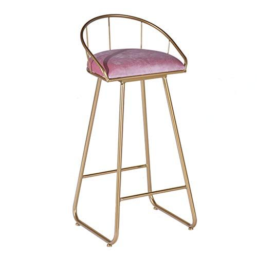 Xsj Barstools Bar Stools Breakfast High Chair With Metal Legs Footrest Backrest For Kitchen Pub Stool Simple Mod Bar Stool Chairs Modern Bar Stools Bar Stools