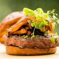 Foraged Mushroom Goat Burger