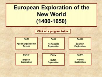 european exploration of the new world The colonial encirclement of the world is an integral component of european history from the early  the spirit of exploration,  colonialism and imperialism.
