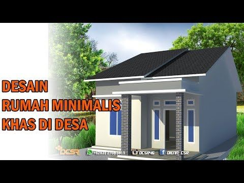 Desain Rumah Sederhana Khas Rumah Di Kampung Menggunakan Google Sketchup Youtube Rumah Desain Rumah Arsitektur