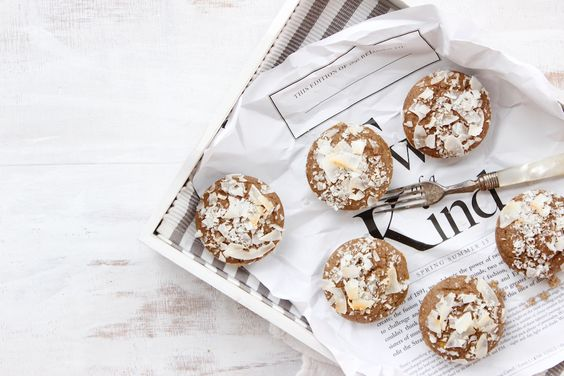 Banana   Coconut Teff Muffins - The Fit Foodie