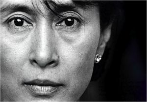 Aung San Suu Kyi is the democratic leader of Burma who withstood 11 years of house arrest to protest against a regime that denied people their basic human rights.