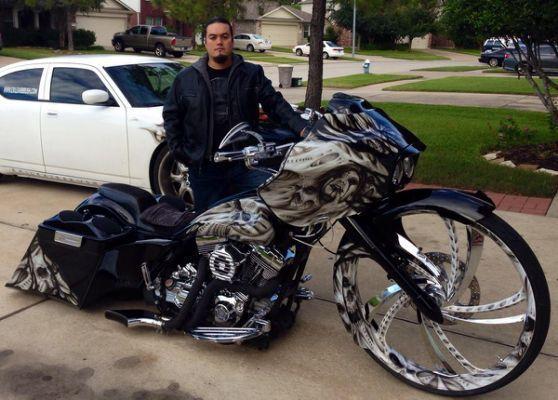 Custom Black Paint Jobs On Motorcycles Custom Baggers Bagger Motorcycle Bagger