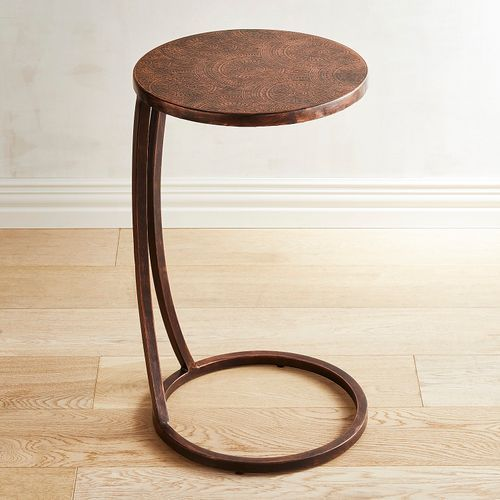 Copper Embossed Spiral Metal C Table With Images C Table