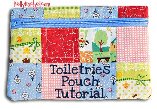 Toiletries pouch tutorial