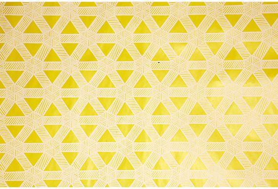 Sasa Wallpaper, Citron, 25 Yds. on OneKingsLane.com