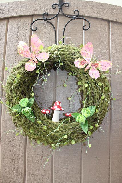 Woodland fairy birthday party ideas gardens wreaths for for Fairy front door