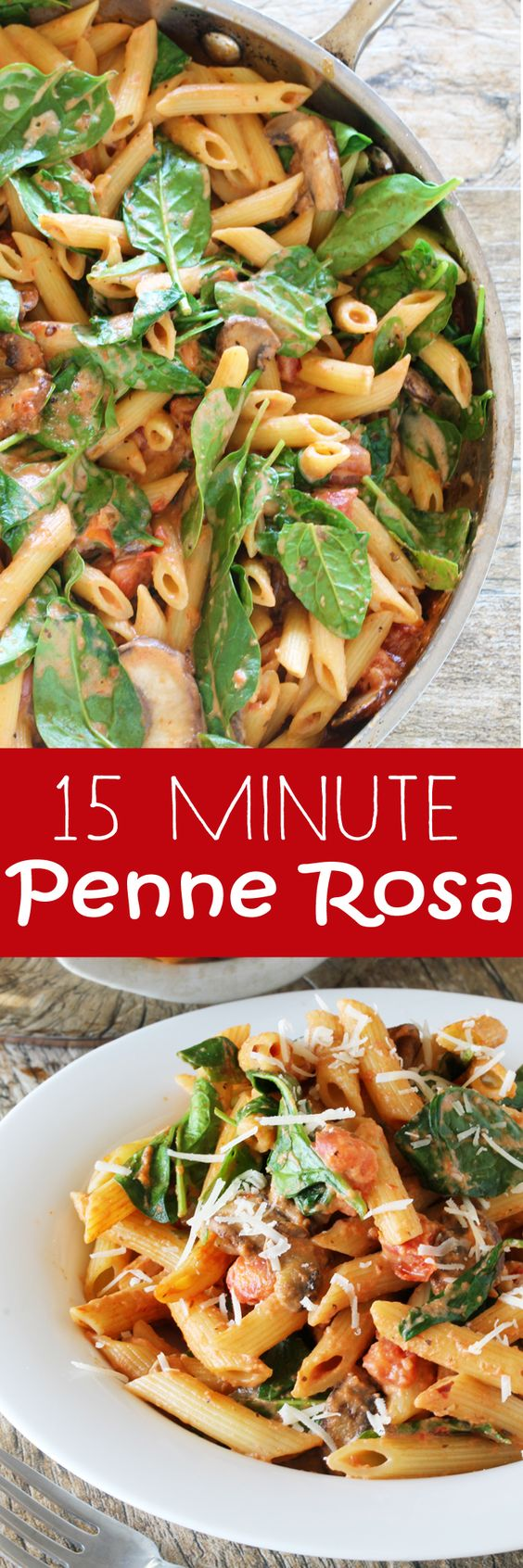 A creamy tomato pasta with a kick! Penne Rosa is a 15 minute meal that is sure to please!