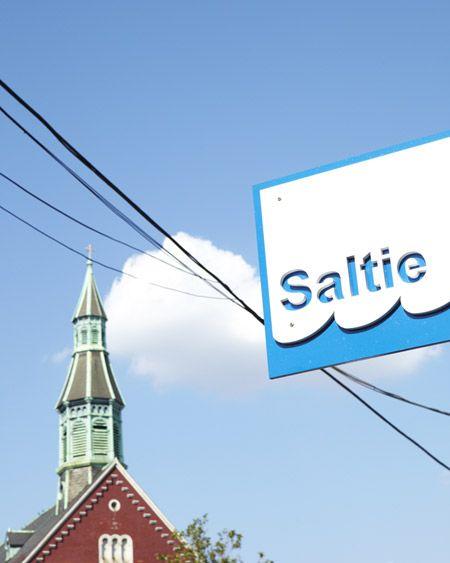 // Saltie blade sign