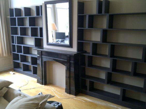 zwarte boekenkast - Google zoeken
